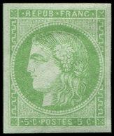* EMISSION DE BORDEAUX - 42B   5c. Vert-jaune, R II, Marges Régulières, TB/TTB - 1870 Bordeaux Printing