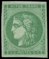 (*) EMISSION DE BORDEAUX - 42Bh  5c. Vert, R II, Jolie Nuance, TB - 1870 Emission De Bordeaux