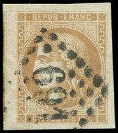 EMISSION DE BORDEAUX - 43A  10c. Bistre, T I R I, Obl. GC 691, Voisin à Gauche, TTB - 1870 Emission De Bordeaux