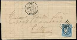 Let EMISSION DE BORDEAUX - 46B  20c. Bleu, T III, R II, Obl. GC 5015 S. LAC, Càd BONE ALGERIE 25/5/71, TTB - 1870 Uitgave Van Bordeaux