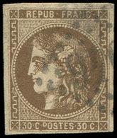 EMISSION DE BORDEAUX - 47   30c. Brun, Oblitéré GC, TB - 1870 Ausgabe Bordeaux