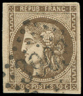 EMISSION DE BORDEAUX - 47   30c. Brun, Oblitéré GC 3903, TB - 1870 Uitgave Van Bordeaux
