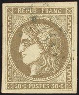 EMISSION DE BORDEAUX - 47   30c. Brun, Oblitéré, TB - 1870 Bordeaux Printing