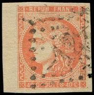 EMISSION DE BORDEAUX - 48   40c. Orange, Obl. GC 12, Bdf, TTB - 1870 Emission De Bordeaux