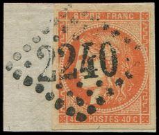 EMISSION DE BORDEAUX - 48   40c. Orange, Oblitéré GC 2240 Sur Fragment, TB - 1870 Bordeaux Printing