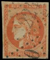 EMISSION DE BORDEAUX - 48   40c. Orange, Oblitéré GC 2240, TB - 1870 Emission De Bordeaux