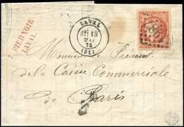 Let EMISSION DE BORDEAUX - 48d  40c. ROUGE SANG, Obl. GC 1887 S. LAC, Càd T17 LAVAL 18/5/72, TTB. Br - 1870 Emission De Bordeaux