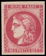 * EMISSION DE BORDEAUX - 49   80c. Rose, Quasi **, Grande Fraîcheur, TTB - 1870 Bordeaux Printing