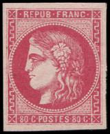 * EMISSION DE BORDEAUX - 49b  80c. Rose Vif, Frais Et TB. C - 1870 Bordeaux Printing