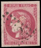 EMISSION DE BORDEAUX - 49   80c. Rose Carminé, Obl. GC, TTB. C - 1870 Uitgave Van Bordeaux