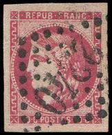 EMISSION DE BORDEAUX - 49   80c. Rose, Oblitéré GC 2240, Très Belles Marges, TB. S - 1870 Uitgave Van Bordeaux