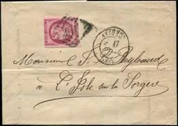 Let EMISSION DE BORDEAUX - 49c  80c. Rose Carminé, Obl. GC 260 S. LAC, Càd T17 AVIGNON 17/4/71, Pour L'Isle S. La Sorgue - 1870 Bordeaux Printing