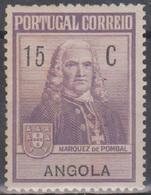 Angola Zwangszuschlagsmarken 1925 Pombal Z1 15 C Postfrisch (xx) - Angola