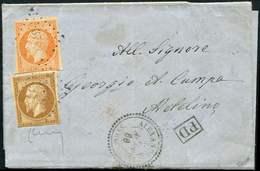 Let BUREAUX FRANCAIS A L'ETRANGER - N°13A Et 16, Touchés, Obl. PC 3766 S. LAC, Càd ALEXANDRETTE SYRIE 7/8/60, Arr. METEL - Marcophilie (Lettres)