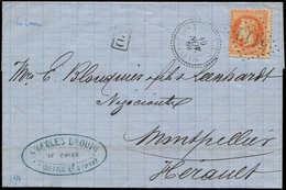 Let BUREAUX FRANCAIS A L'ETRANGER - N°31 Obl. GC 5119 S. LAC, Càd LE CAIRE 19/11/69 Et Arr. Montpellier 25/11, TB - Marcophilie (Lettres)