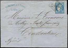 Let LETTRES ET OBLITERATIONS D'ALGERIE - N°46B Obl. GC 5005 Sur LAC, Càd ALGER 3/5/70 Sur LAC, TB - Marcophilie (Lettres)