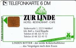 GERMANY - Hotel/Restaurant/Cafe Zur Linde 2 (Linden Bitter), O 0770-04/93 , 2,000 Tirage ,used - Duitsland