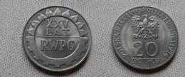 Pologne   20 Zlotych  1974  KM # Y70   SUPERBE - 25° ANNIV.COMECON - Pologne