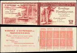 CARNETS (N°Cérès Jusqu'en1964) - 89A  Semeuse Lignée, 50c. Rouge, N°199B, T IIB, MONTPEYROUX, Un  Ex. Adh., 2 Ex. Froiss - Carnets