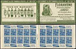 CARNETS (N°Cérès Jusqu'en1964) - 149  Jeanne D'Arc, 50c. Bleu, N°257, T I, S. Bordeaux, FLORAVENE, TB - Carnets