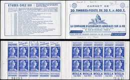 CARNETS (N°Cérès Jusqu'en1964) - 358  Muller, 20f. Bleu, N°1011BB, T II, S. 8-57, ASSURANCES VIE, Daté 13/6/57, N°96395, - Carnets