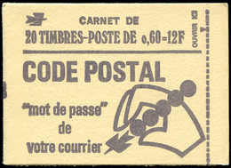 CARNETS (N°Cérès Jusqu'en1964) - 1815-C2    Béquet, 0,60 Vert, 20 T. N°1815c, SANS PHOSPHO, TB - Carnets