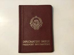PASSPORT   REISEPASS  PASSAPORTO   PASSEPORT  DIPLOMATIQUE 1967. VISA TO:SUISSE,IRAN,USA,FRANCE,ESPANA - Historische Dokumente