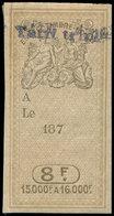 * Spécialités Diverses - TIMBRES FISCAUX Effets De Commerce 290 : 8f. Surch. Bleu, Tarif Triple (spécifique à La Guadelo - Revenue Stamps