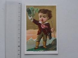 "CHROMO BELLE JARDINIERE: HUMOUR ""Hip! Hip! Hurrah!"" - Montagnard Alpiniste Enfant - Lith. APPEL - Other"