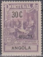 Angola Zwangszuschlagsportomarken 1925 Pombal ZP2 30 C Ungebraucht - Angola