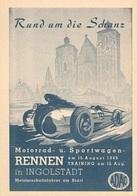 Car Automobile Grand Prix Postcard Ingolstadt 1949 - Reproduction - Werbepostkarten