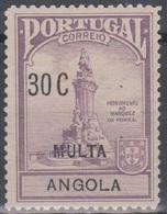 Angola Zwangszuschlagsportomarken 1925 Pombal ZP3 30 C Ungebraucht - Angola