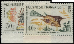 ** POLYNESIE FRANCAISE 18/21 : Poissons, La Série, Bdf, TB - Polynésie Française