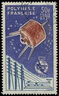 POLYNESIE FRANCAISE PA 10 : U.I.T., 50f. Violet, Obl., TB - Poste Aérienne