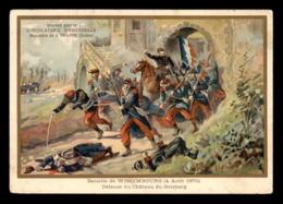CHROMOS - CHOCOLATERIE D'AIGUEBELLE - BATAILLE DE WISSEMBOURG 1870 - FORMAT  13.5 X 9.5 CM - Aiguebelle