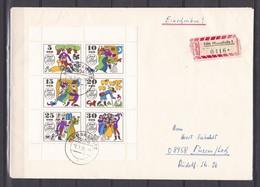 DDR - 1969 - Michel Nr. 1450/55 - Kleinbogen - Einschreiben - FDC - 30 Euro - Gebraucht