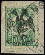 ALBANIE 3 : 10pa. Vert, Obl. Sur Fragment, TB - Albanie