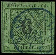 ALLEMAGNE (ANCIENS ETATS) WURTEMBERG 3 : 6k. Vert, Oblitéré, TB - Wurtemberg