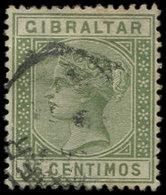 GIBRALTAR 27 : 75c. Vert-olive, Obl., TB - Gibraltar