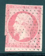Napoléon III / N° 17B Cachet Pointillés Fins Avec Voisin - 1853-1860 Napoleon III