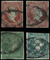 ANTILLES ESPAGNOLES 1/4 : Isabelle II, La Série, Obl., TB - Antilles