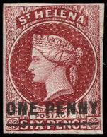 (*) SAINTE-HELENE 3a : 1p. Carmin, Surcharge One Penny, TB - Saint Helena Island