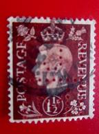 Stamp Europe Europa Great Britain Royaume Uni Timbre-Perforés Perforé Perforés Perfin Perfins Perforated Perforation - Grande-Bretagne