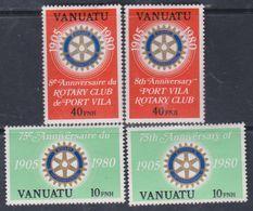 VANUATU N° 609/12 XX 75 ème Anniver. Du Rotary Inter. Les 2 Légendes Sans Charnière, TB - Vanuatu (1980-...)