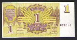 ЛАТВИЯ 1   1992 UNC - Latvia