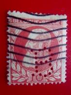 BELGIQUE BELGIE Stamp Europe Europa Timbre-Perforés Perforé Perforés Perfin Perfins Perforated Perforation B - 1934-51
