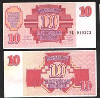 ЛАТВИЯ 10   1992 UNC - Lettonie