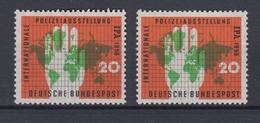 Bund 240 I Mit Plf. Mit Normalmarke Internati. Polizeiausstellung Essen 20 Pf ** - [7] République Fédérale