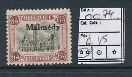BELGIQUE BELGIUM COB OC 74 MNH - Guerre 14-18