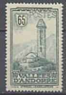ANDORRE N° 36 X Paysages De La Principauté 65 C. Vert-bleu - Andorre Français
